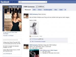 Beispiel FHM Germany auf Facebook