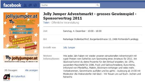 """Beispiel 2: """"Jolly Jumper Adventsmarkt"""""""