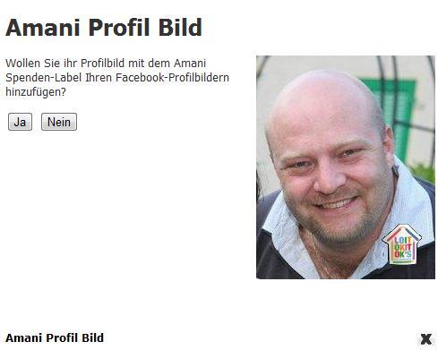 Anpassung Profilbild mit Spendenbadge