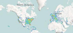 Popularity Map auf Viewster.com