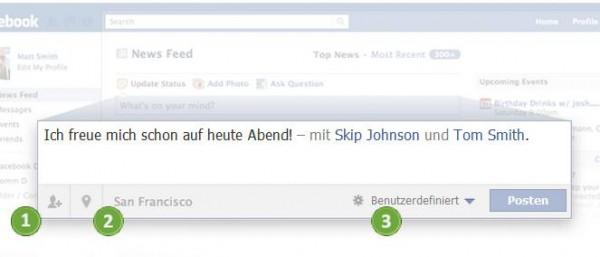 Statusupdates auf Facebook posten