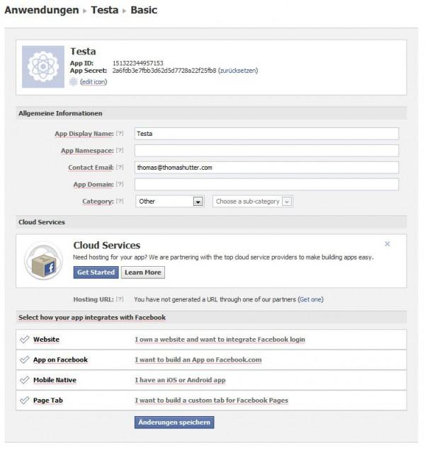 Cloud Services direkt aus der Dev-App heraus integrierbar
