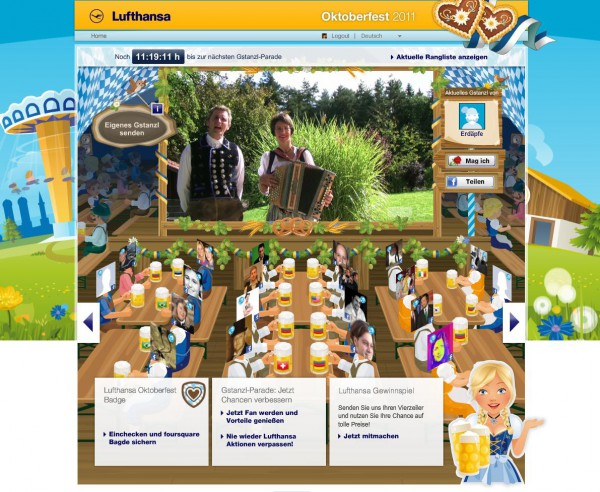 Gstanzl-Parade am Lufthansa Oktoberfest