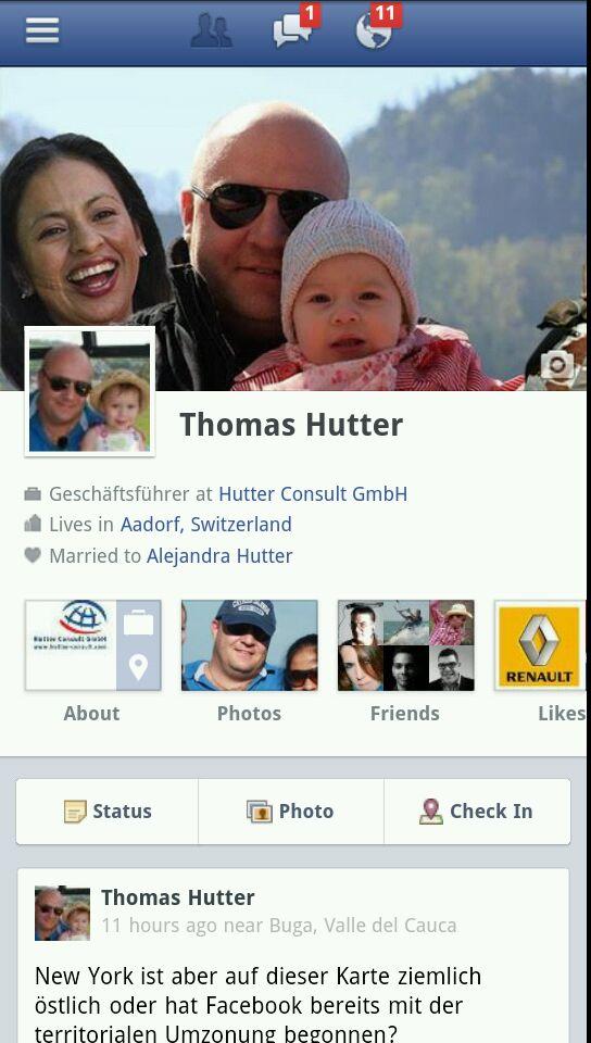 Facebook Mobile Ansicht