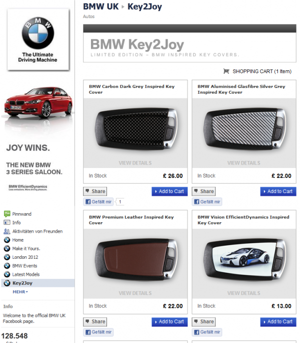 Key2Joy Shop von BMW UK
