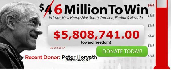 Onlinespendenbarometer von Ron Paul