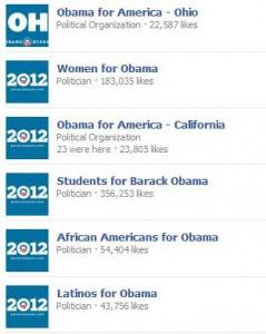 Obama-Supporter Facebookseiten