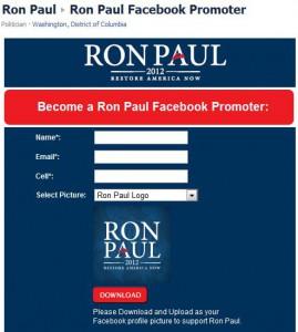 Ron Paul Facebook Promoter