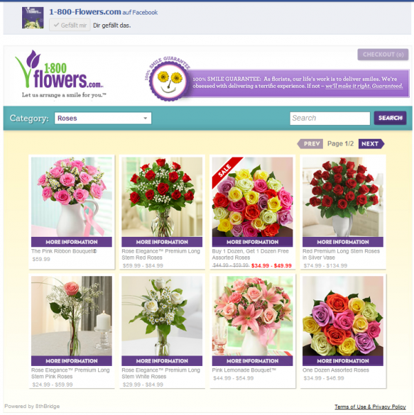 Shopping-App von 1-800-Flowers.com