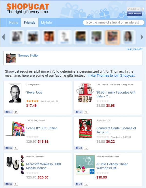 Shopycat - Beispiel Thomas Hutter