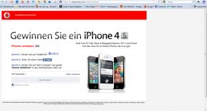 Vodafone - 500 iPhones zu verschenken