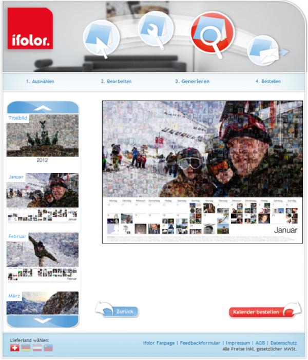 ifolor Social-Mosaic App - generierte Fotos