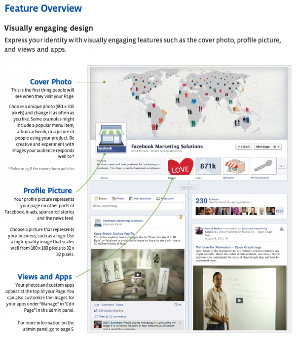 Facebook-Seite - Neue Dimensionen (Facebook-Seiten Product Guide)
