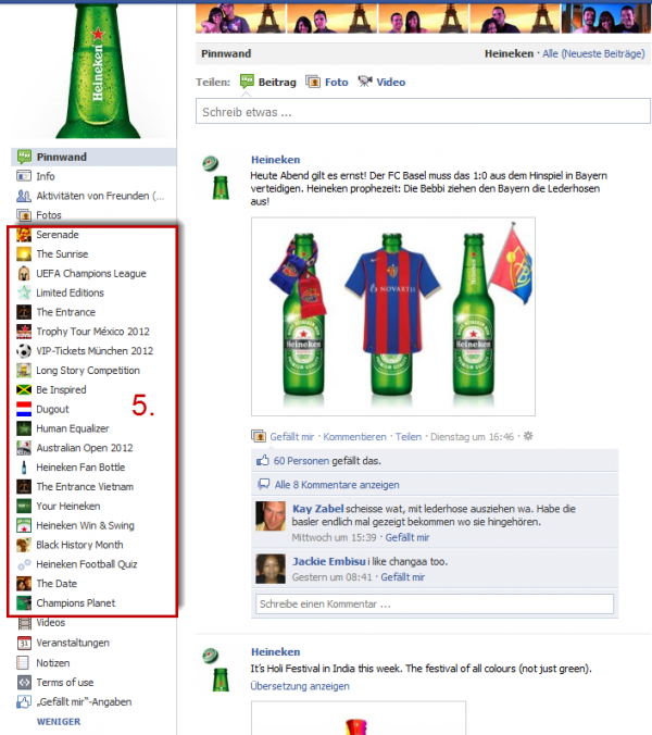 Heineken Facebook-Apps - Less is more