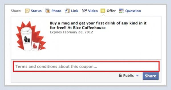 Facebook Offers - Schritt 2