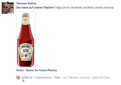 "Heinz ""Name for Fame"" - automatische Pinnwandpublikation"