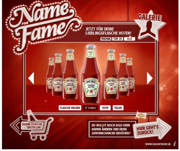 Name for Fame von Heinz