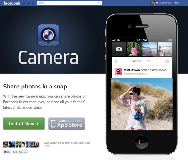 Facebook Camera iPhone App