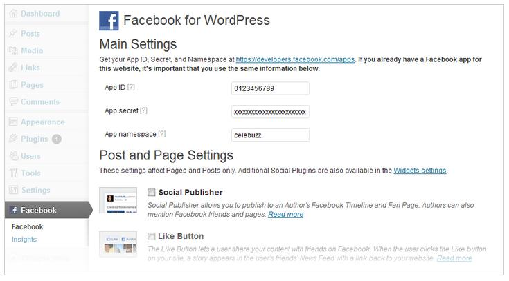 Backend in WordPress (Quelle: Facebook Developers Blog)