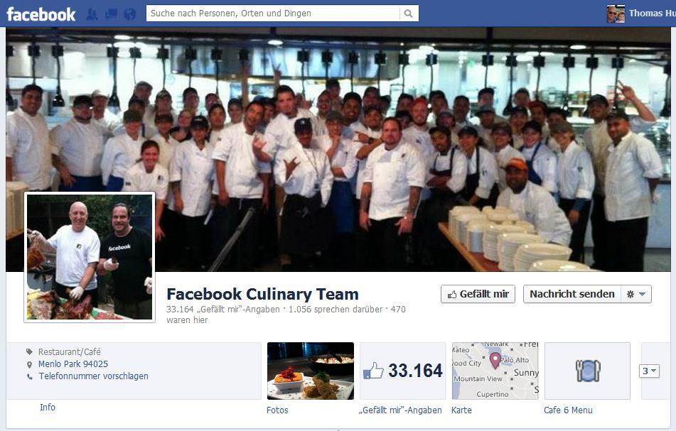 """Beispiel """"Facebook Culinary Team"""""""