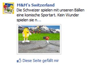 Beispiel einer Facebook Page Post Ad