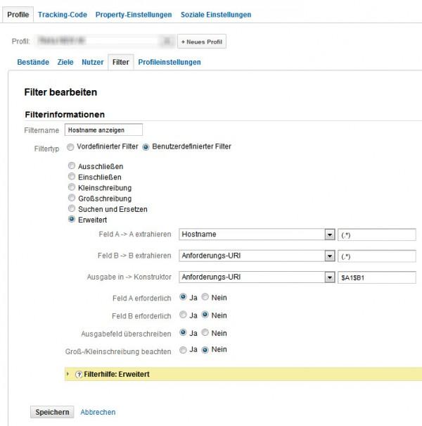 Google Analytics Hostname