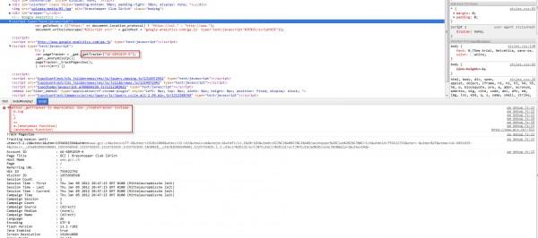 Google Analytics Debugging Fehler - Einsatz des alter Google Analytics Tracking Codes.