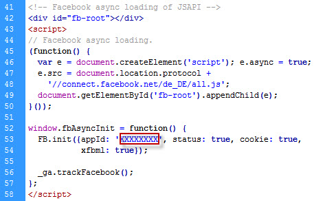 Aufruf der Facebook API