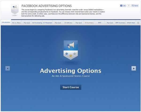 Facebook Advertising Options - Introduction