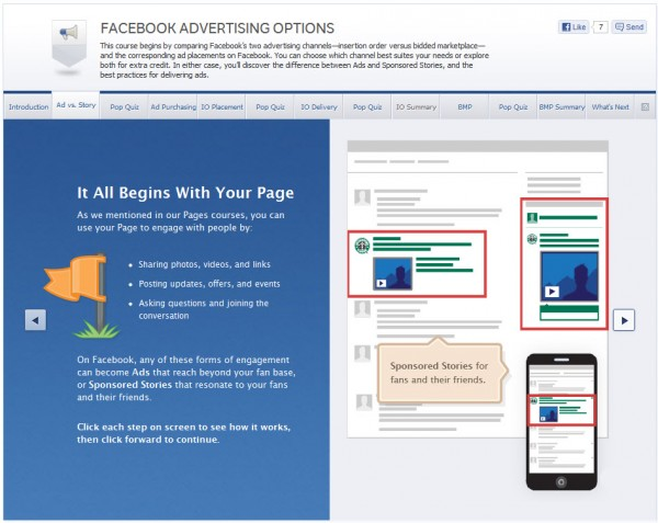 Facebook Advertising Options - Ad vs. Story