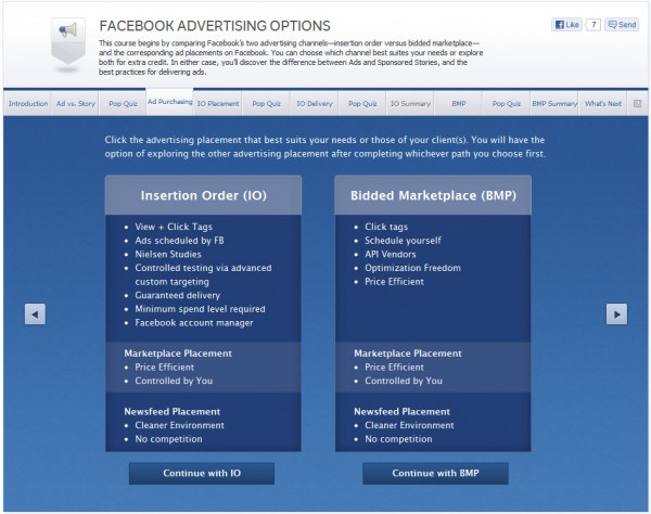 Facebook Advertising Options - Ad Purchasing