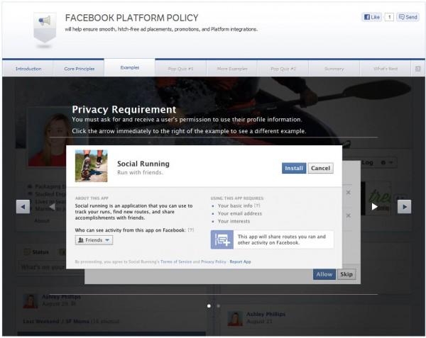 Facebook Platform Policy - Examples