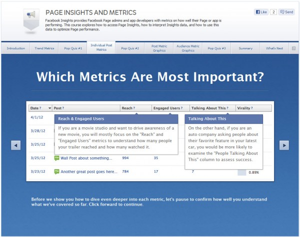 Page Insights and Metrics - Individual Post Metrics