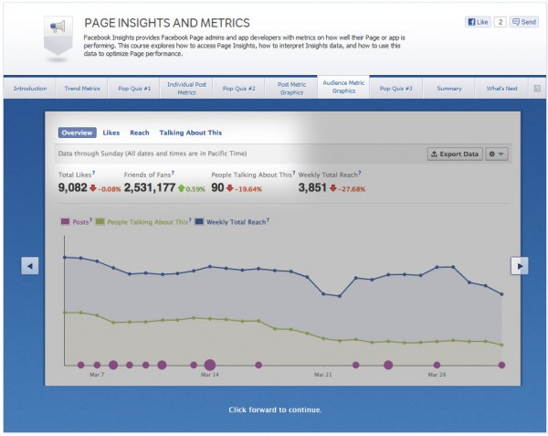 Page Insights and Metrics - Audience Metric Graphics