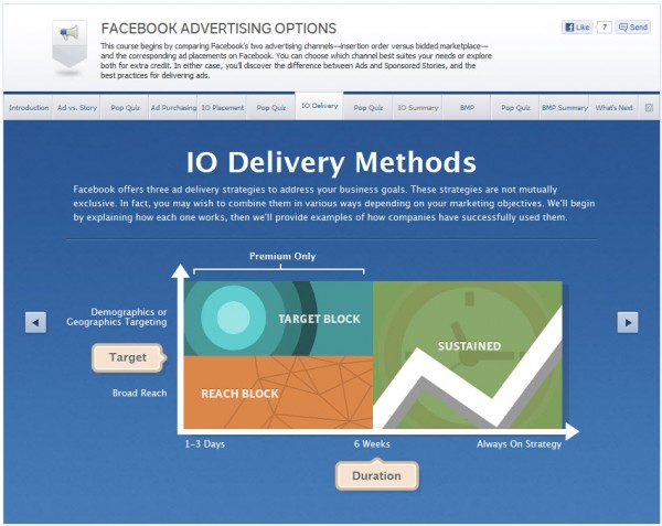 Facebook Advertising Options - IO Delivery