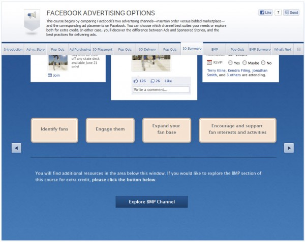 Facebook Advertising Options - IO Summary