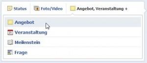 Facebook Angebote erstellen - Schritt 1