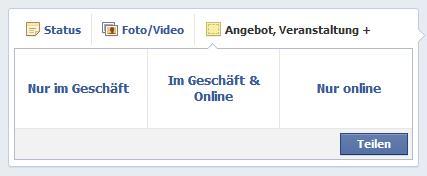 Facebook Angebote erstellen - Schritt 2