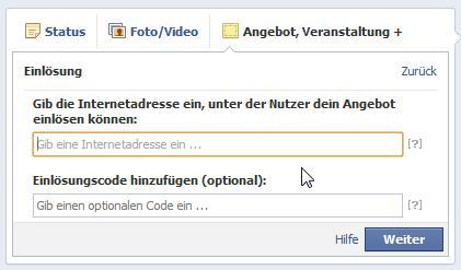 Facebook Angebote erstellen - Online und Geschäft