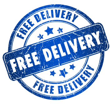 Free delivery stamp (Copyright istockphoto.com