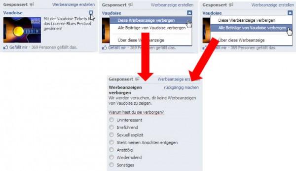 Ads bei Facebook melden