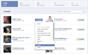 Neue Freundesliste auf Facebook