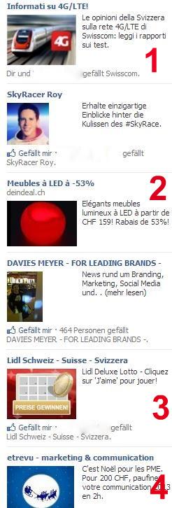 Beispiel des Sprachmixes bei Facebook Ads