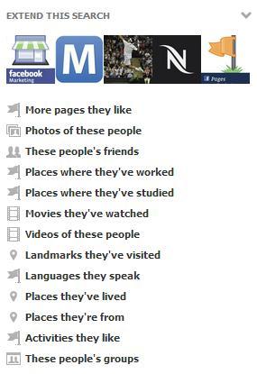 Erweiterte Suchabfragen in der Graph Search
