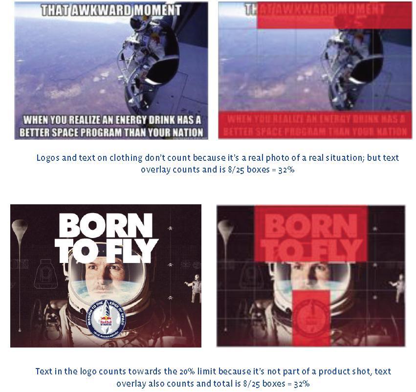 Nicht akzeptierte Bilder für den Einsatz als Werbebilder im NewsFeed