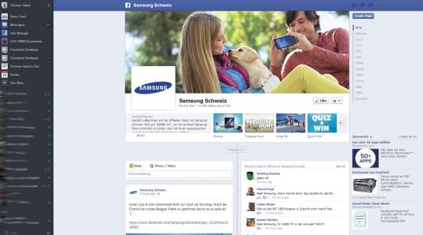 Ads auf Facebook Seiten in der rechten Spalte
