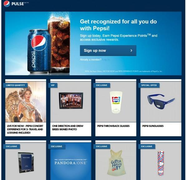 Pepsi Points Startseite