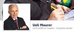 Die ehemalige Facebook Seite von Bundespräsident Ueli Maurer