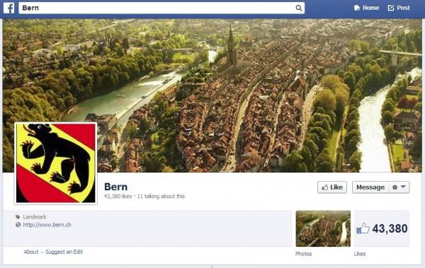 Facebook Seite Bern