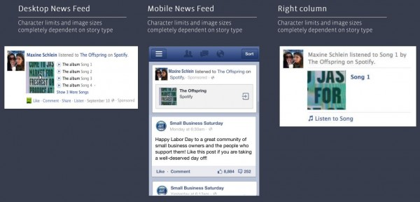 Facebook Open Graph Sponsored Story